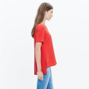 Madewell industry button back blouse